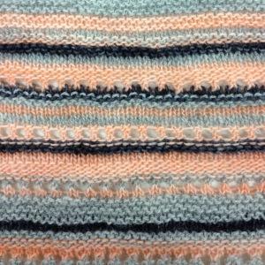 knit random colour and stitch stripes
