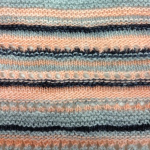 knit random colour and stitch stripes