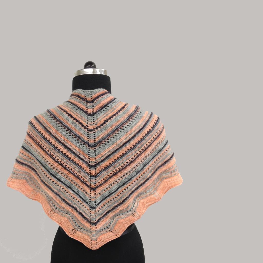 striped knit shawl free pattern
