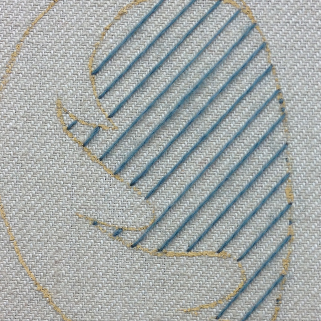 trellis stitching first layer