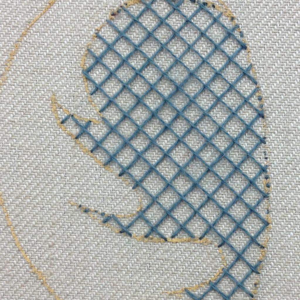 trellis stitching second layer