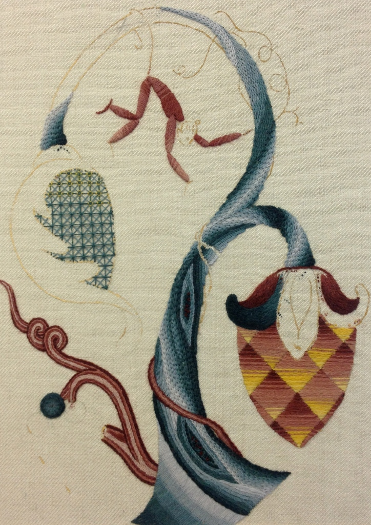 jacobean crewelwork royal school of needlework certificate day 6