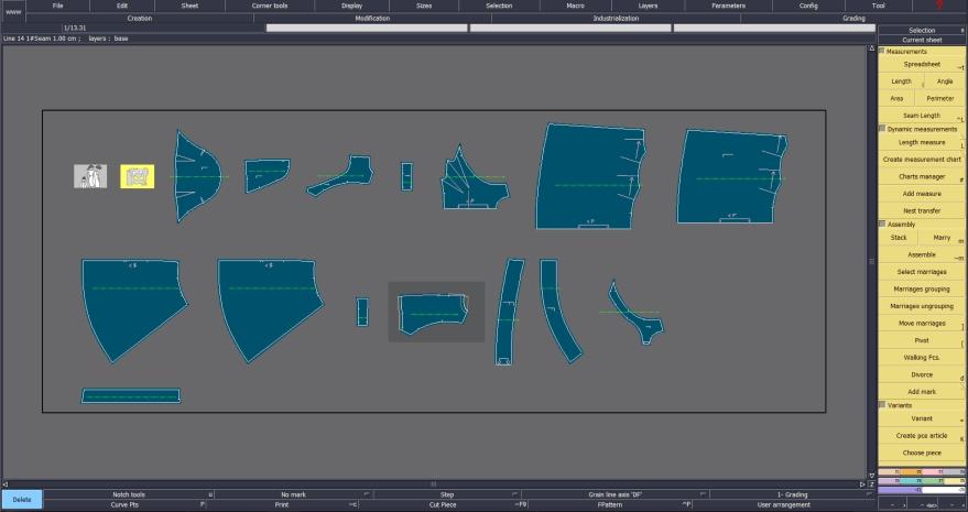 Lectra screen grab double wrap dress pattern