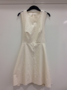 double wrap dress toile front
