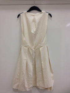 Double wrap dress toile back