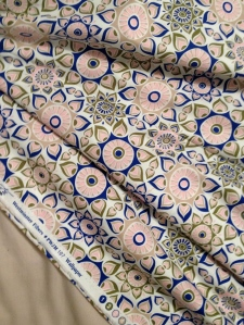 geometric print dress fabric
