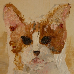 cat portraits, acrylic paintings