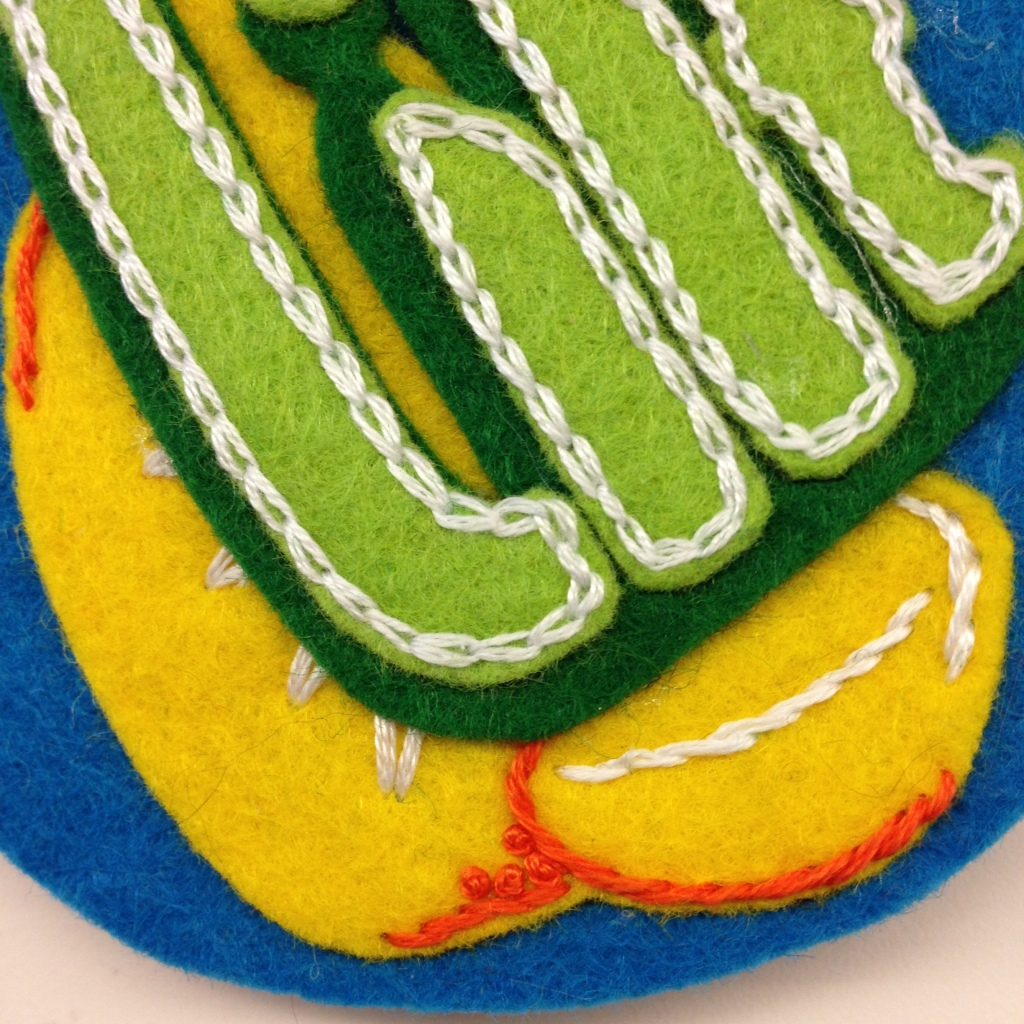 chain stitch lilt text