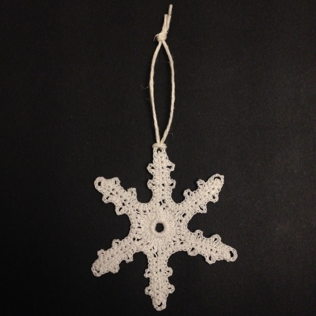 Long legged Lucy crochet snowflake free pattern