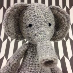 Crochet elephant, another Ed's animal