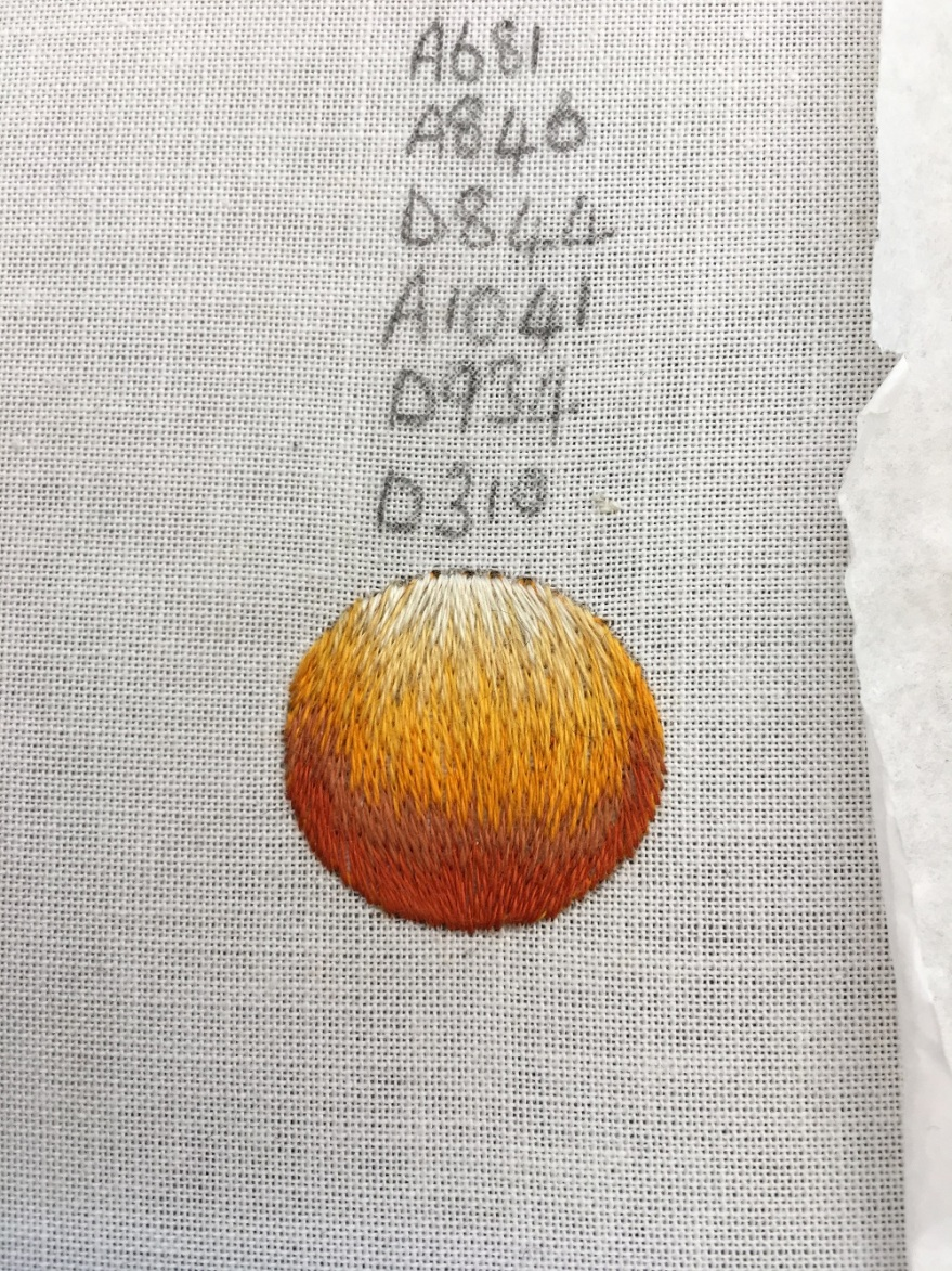silk shading | orange | satsuma | RSN | Sarah Mole